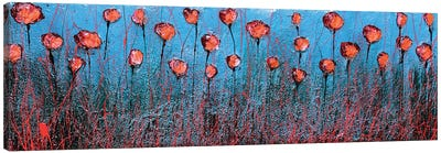 Blu And Poppies Canvas Art Print