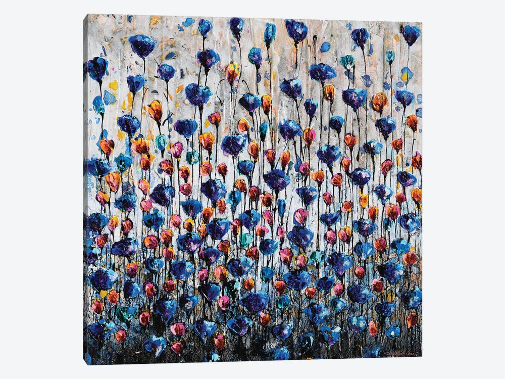 Poppies And Friends IV by Donatella Marraoni 1-piece Canvas Artwork