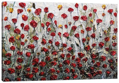 New Poppies Old Memories Canvas Art Print