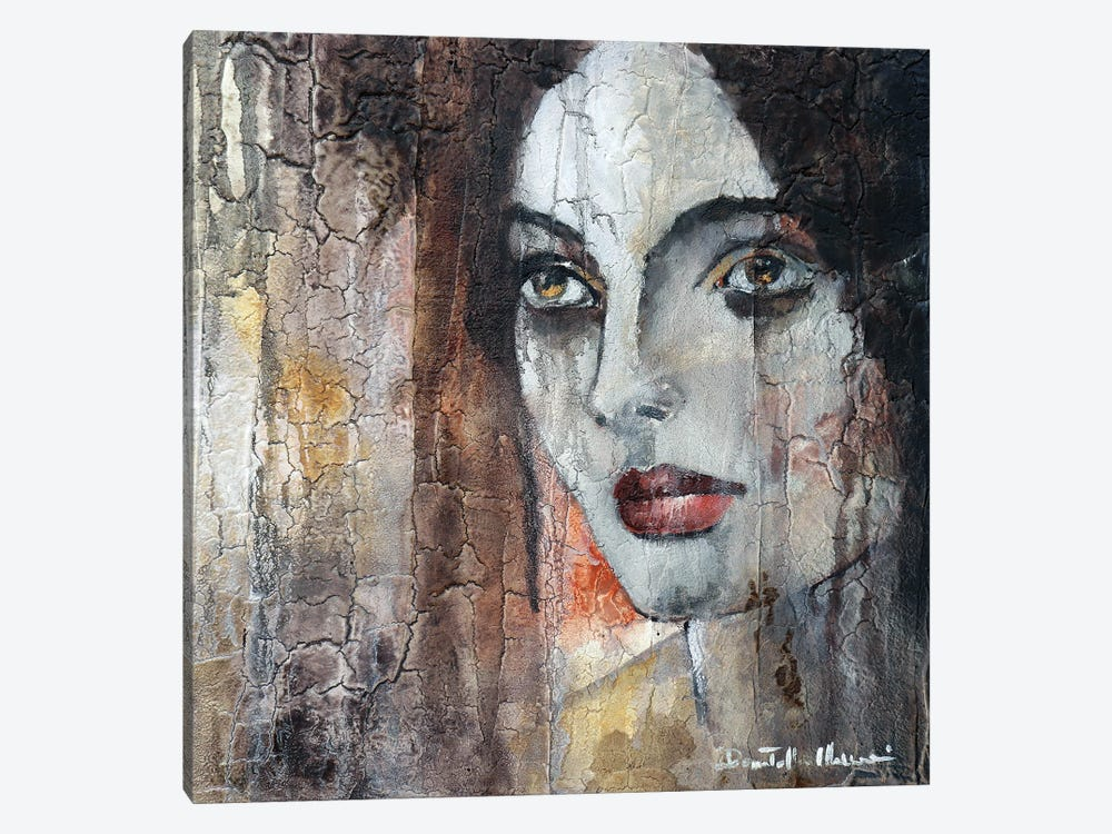 She Walks Alone From Wall To Wall by Donatella Marraoni 1-piece Art Print