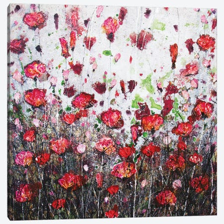 Poppies & Joy Canvas Print #DOM34} by Donatella Marraoni Canvas Artwork