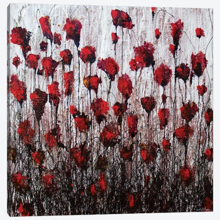 Poppies In Love Canvas Print #DOM36} by Donatella Marraoni Canvas Art