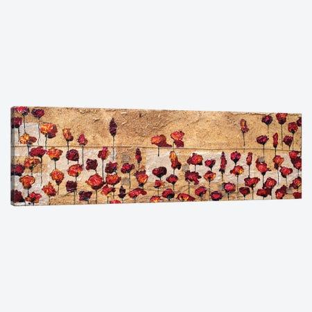 Poppies Oizzontale Segatura Canvas Print #DOM37} by Donatella Marraoni Canvas Wall Art