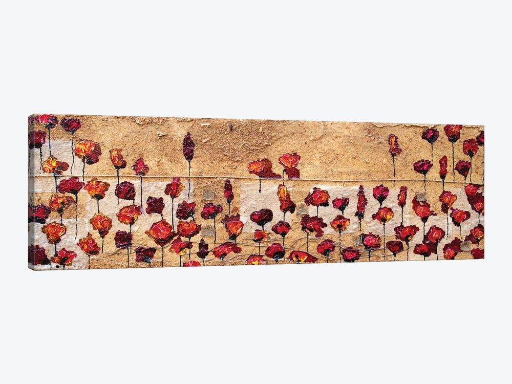 Poppies Oizzontale Segatura by Donatella Marraoni 1-piece Canvas Print