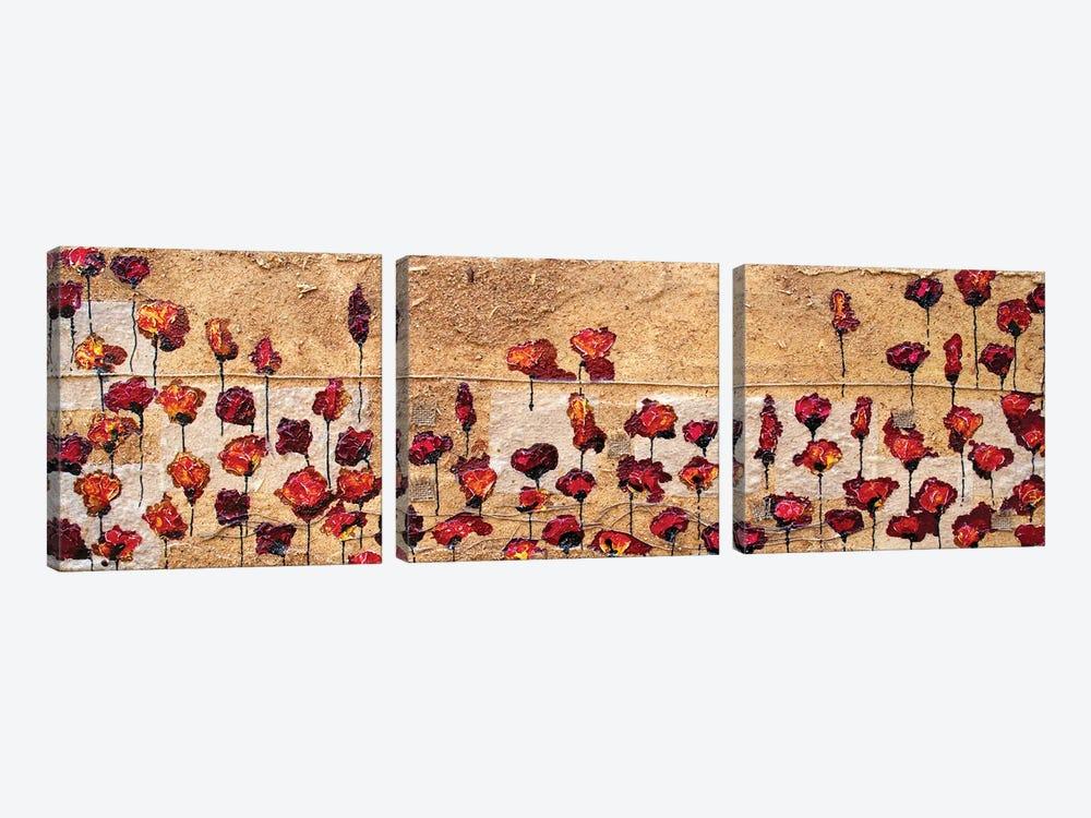 Poppies Oizzontale Segatura by Donatella Marraoni 3-piece Art Print