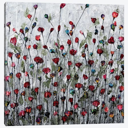 Poppies, Memories And Love Canvas Print #DOM41} by Donatella Marraoni Canvas Artwork