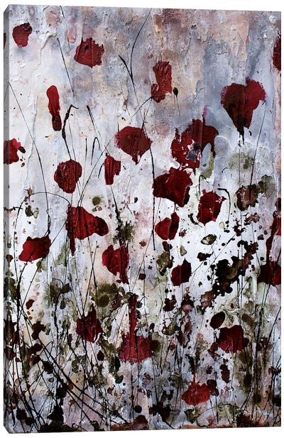 Poppies, Red Flowers Canvas Art Print