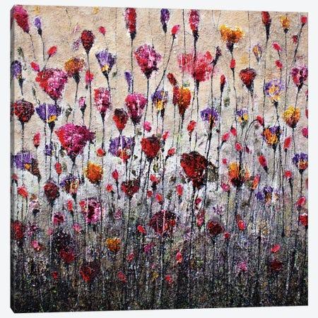 Purple Love And Poppies Canvas Print #DOM45} by Donatella Marraoni Canvas Art Print