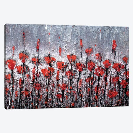 Red Love And Poppies Canvas Print #DOM48} by Donatella Marraoni Canvas Wall Art