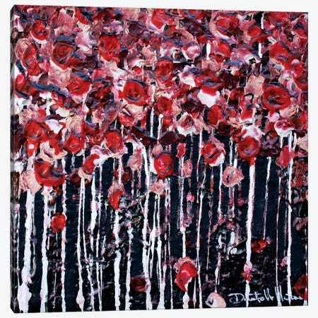 Red...Lovely Red Canvas Print #DOM49} by Donatella Marraoni Canvas Artwork