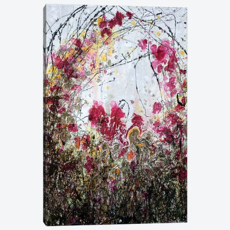 Barbed Wire And Poppies Canvas Print #DOM4} by Donatella Marraoni Canvas Print