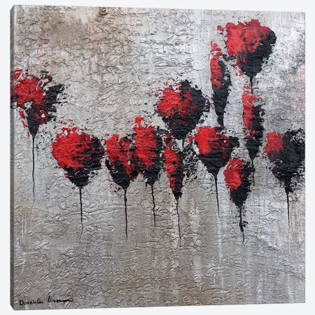 The Gold Letter - Poppies Canvas Print #DOM55} by Donatella Marraoni Canvas Artwork