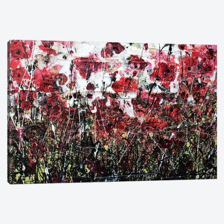 Black Poppies And Love Canvas Print #DOM5} by Donatella Marraoni Art Print