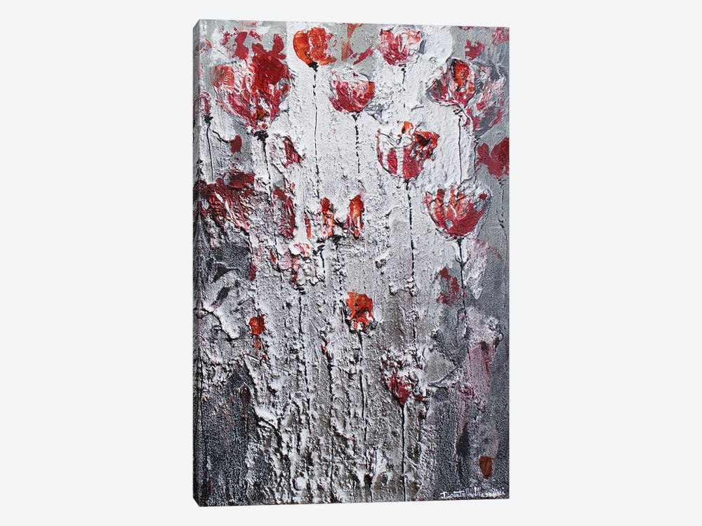 Dancing Poppies In The Night by Donatella Marraoni 1-piece Canvas Print