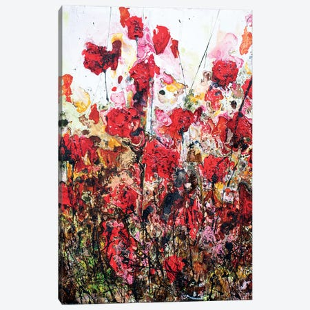 Pink Poppies...And Love Canvas Print #DOM68} by Donatella Marraoni Canvas Art