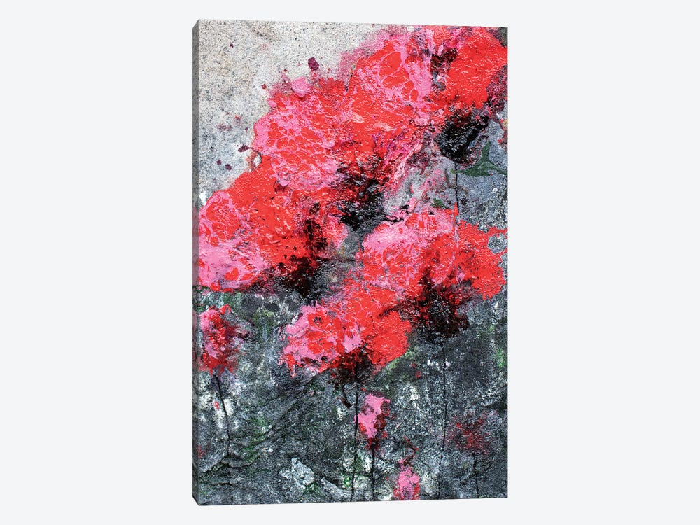 Pink Red Love And Poppies by Donatella Marraoni 1-piece Canvas Artwork