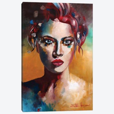 Portrait In Red Canvas Print #DOM85} by Donatella Marraoni Art Print