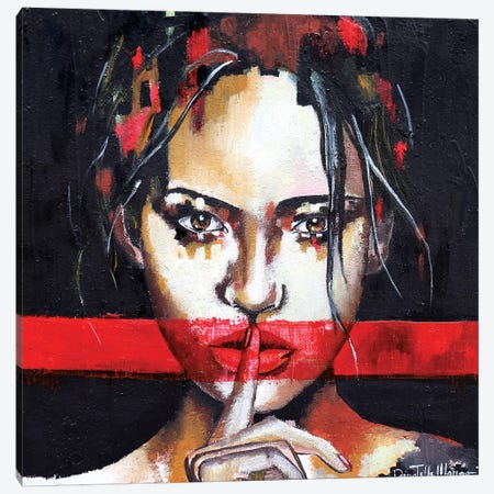 Be Quite Canvas Print #DOM88} by Donatella Marraoni Canvas Wall Art