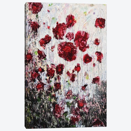 Poppies In Love! Canvas Print #DOM90} by Donatella Marraoni Canvas Art Print