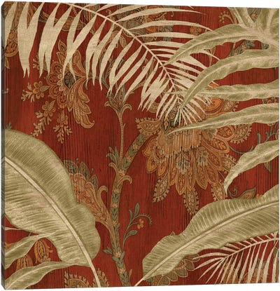 Tropical Garden I Canvas Print #DON167