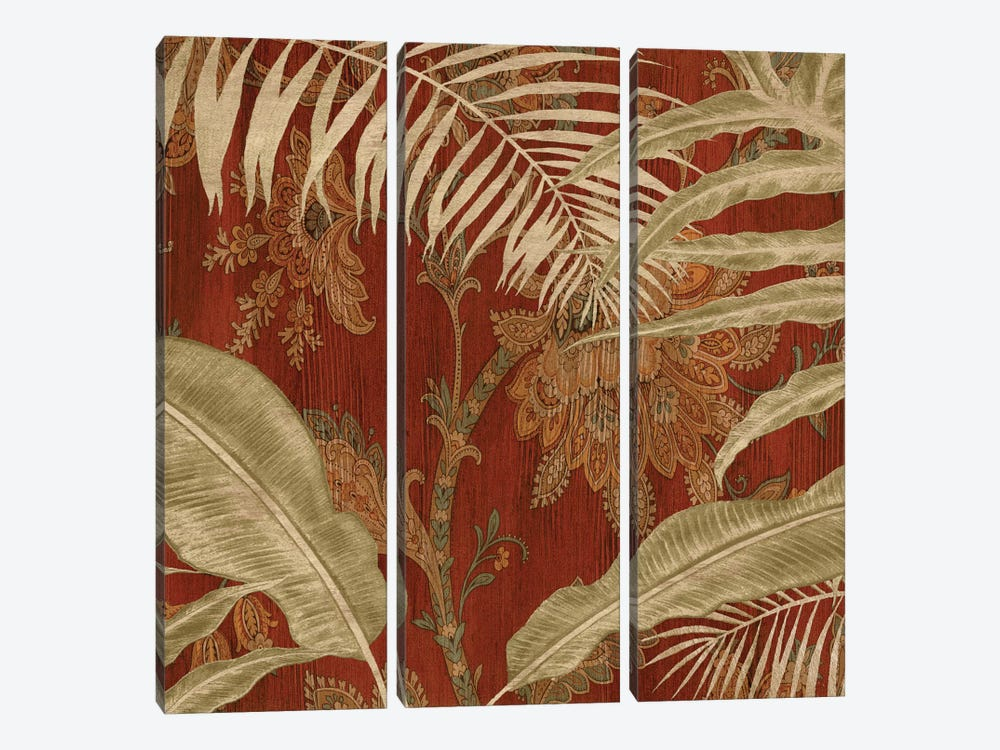 Tropical Garden I 3-piece Canvas Wall Art