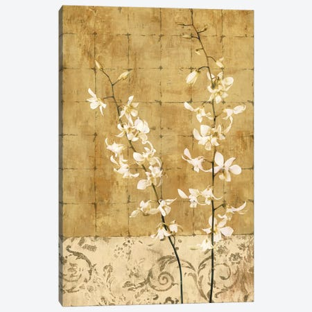 Blossoms In Gold I Canvas Print #DON25} by Chris Donovan Canvas Wall Art