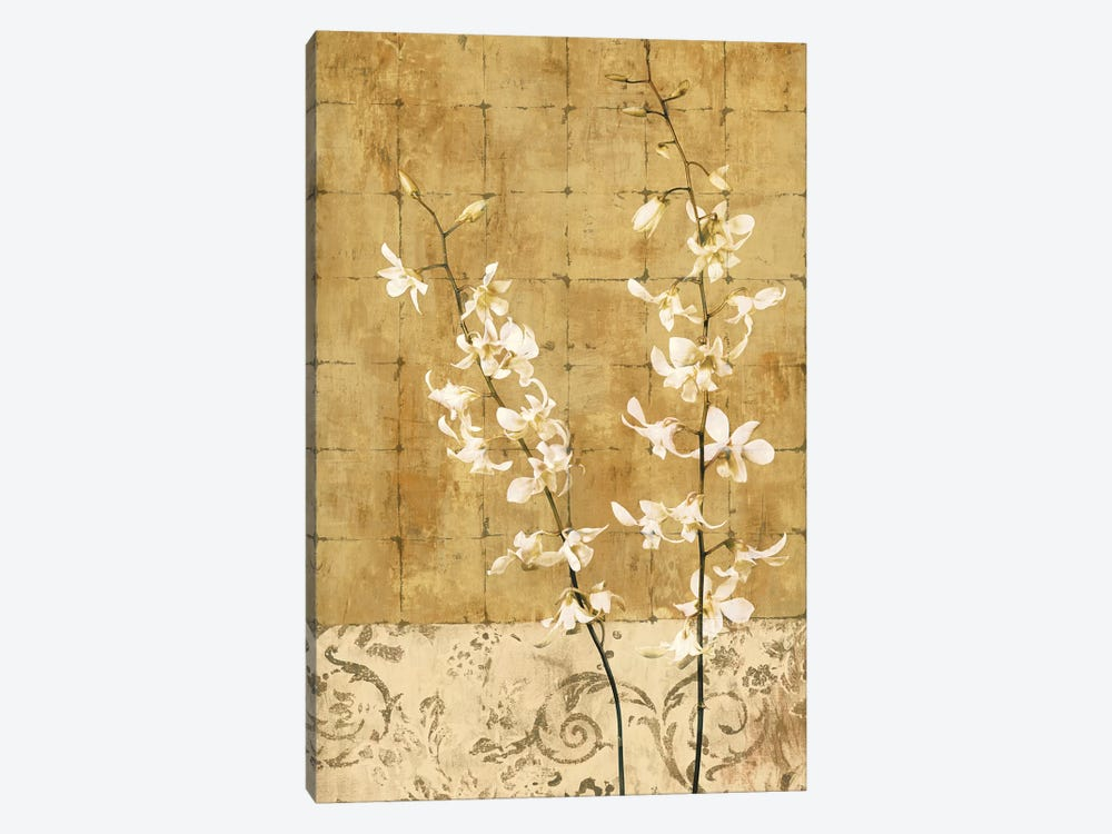 Blossoms In Gold I by Chris Donovan 1-piece Canvas Artwork