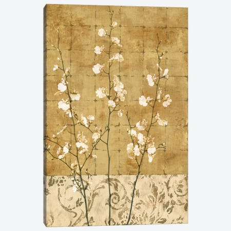 Blossoms In Gold II Canvas Print #DON26} by Chris Donovan Canvas Art