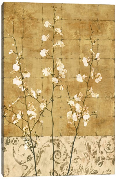 Blossoms In Gold II Canvas Art Print