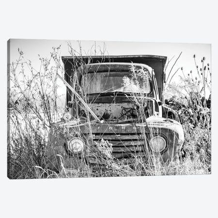 Truck in Wildflower Field Canvas Print #DOQ14} by Donnie Quillen Canvas Art