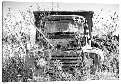 Truck in Wildflower Field Canvas Art Print