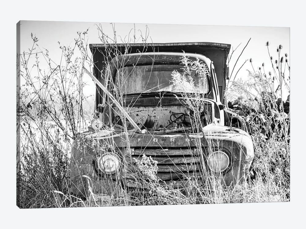 Truck in Wildflower Field by Donnie Quillen 1-piece Art Print