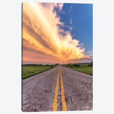 Road And Sky Meeting Canvas Print #DOQ19} by Donnie Quillen Art Print