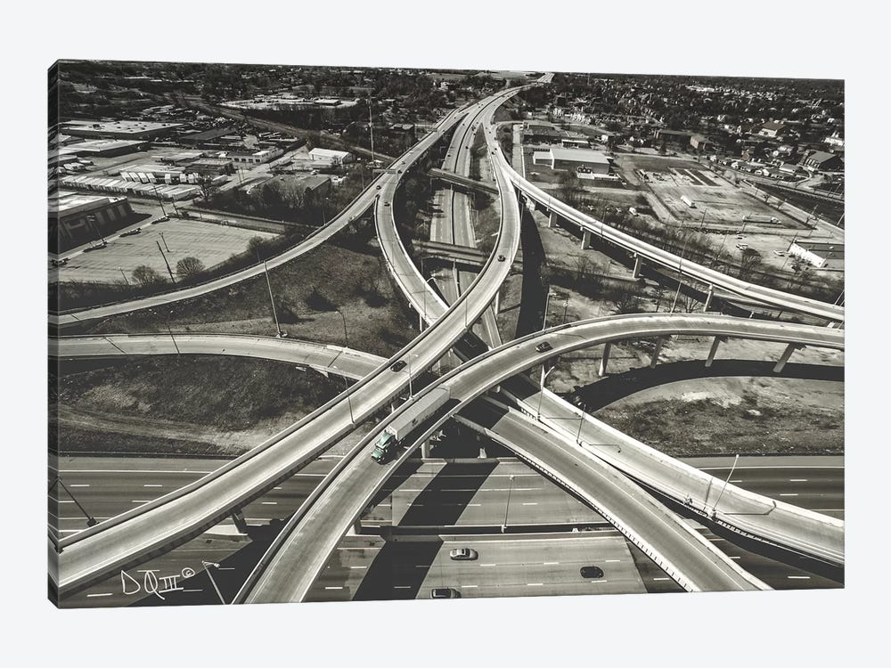 Highway Crossing by Donnie Quillen 1-piece Canvas Artwork