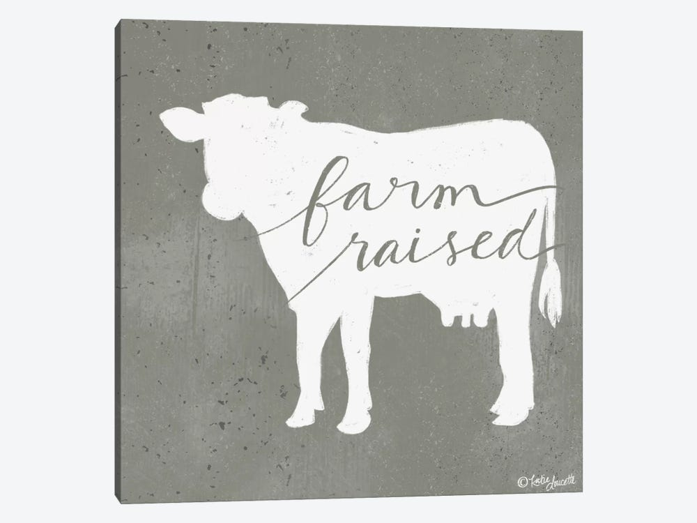 Farm Raised by Katie Doucette 1-piece Canvas Artwork