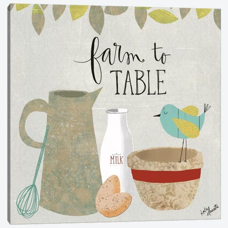 Farm To Table Canvas Print #DOU12} by Katie Doucette Canvas Art Print