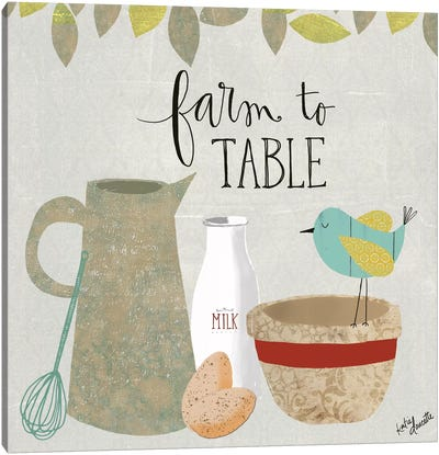 Farm To Table Canvas Art Print