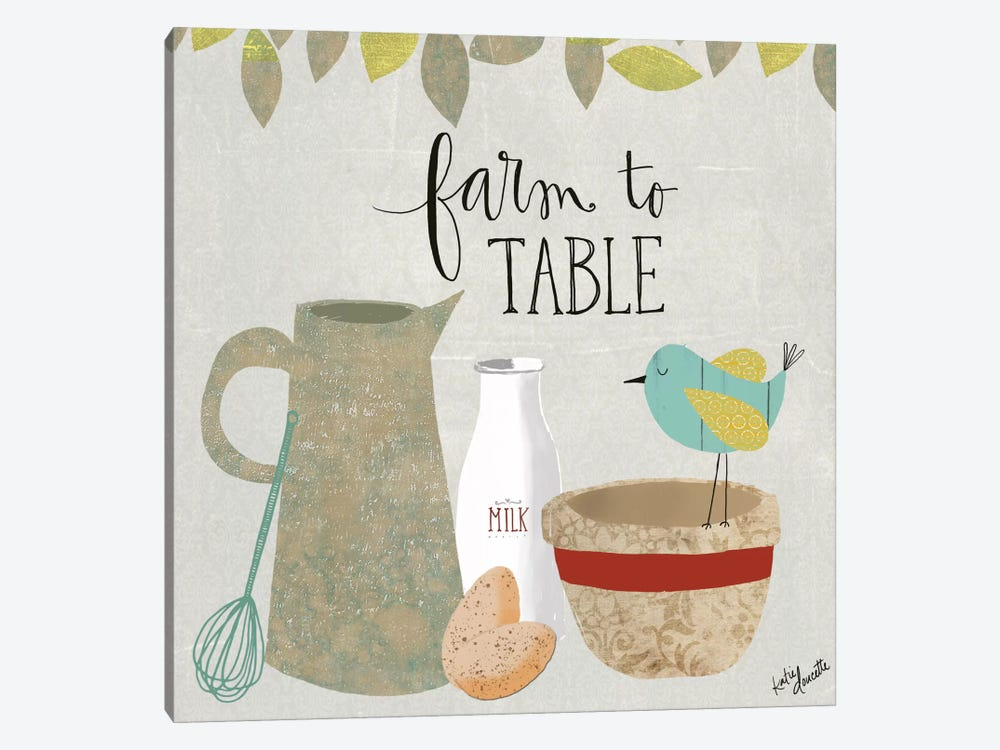 Farm To Table by Katie Doucette 1-piece Canvas Art