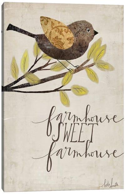 Farmhouse Sweet Farmhouse Canvas Art Print