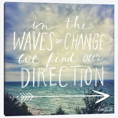 Find Our Direction Canvas Print #DOU14} by Katie Doucette Canvas Artwork