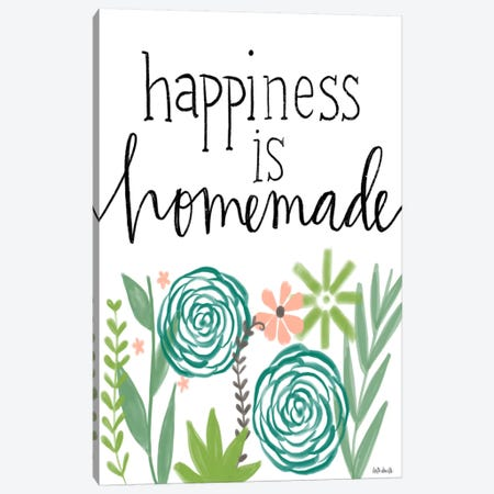 Happiness Is Homemade Canvas Print #DOU17} by Katie Doucette Canvas Wall Art