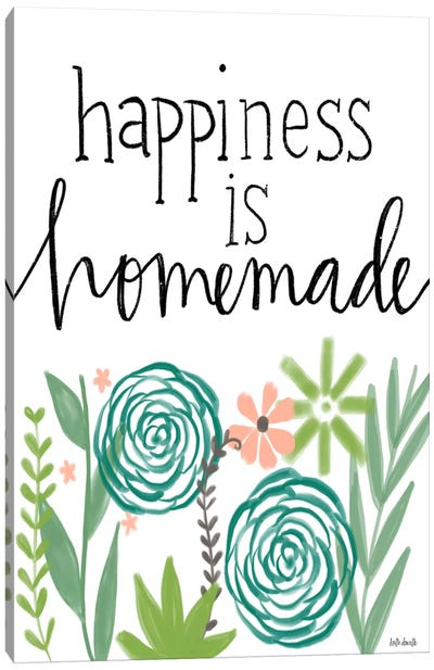 Happiness Is Homemade Canvas Art Print