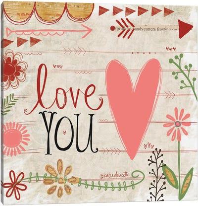 Love You Canvas Art Print