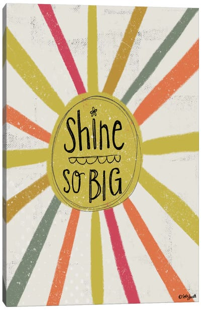 Shine So Big Canvas Art Print