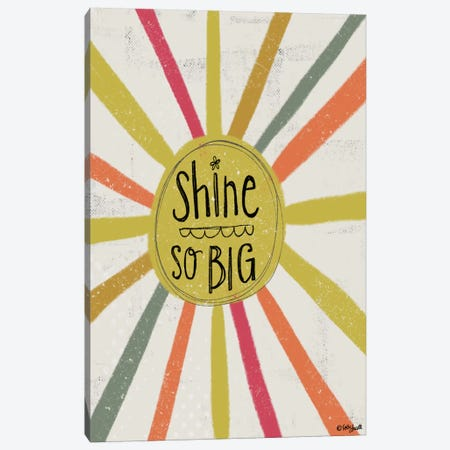 Shine So Big Canvas Print #DOU24} by Katie Doucette Canvas Art Print