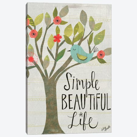 Simple Beautiful Life Canvas Print #DOU25} by Katie Doucette Art Print