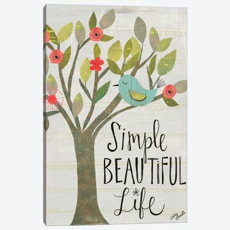 Simple Beautiful Life Canvas Print #DOU25} by Katie Doucette Art Print