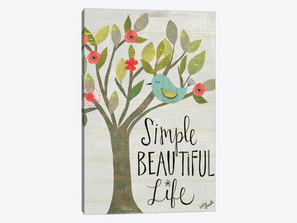Simple Beautiful Life by Katie Doucette 1-piece Canvas Wall Art