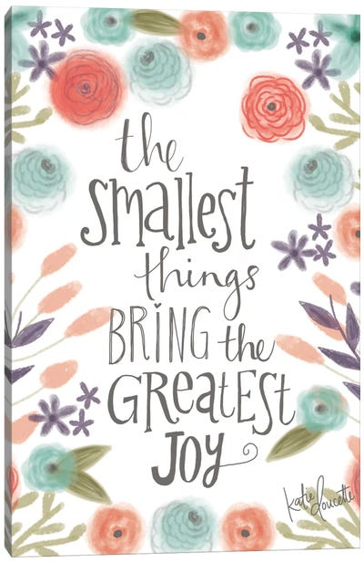 Smallest Things Canvas Art Print
