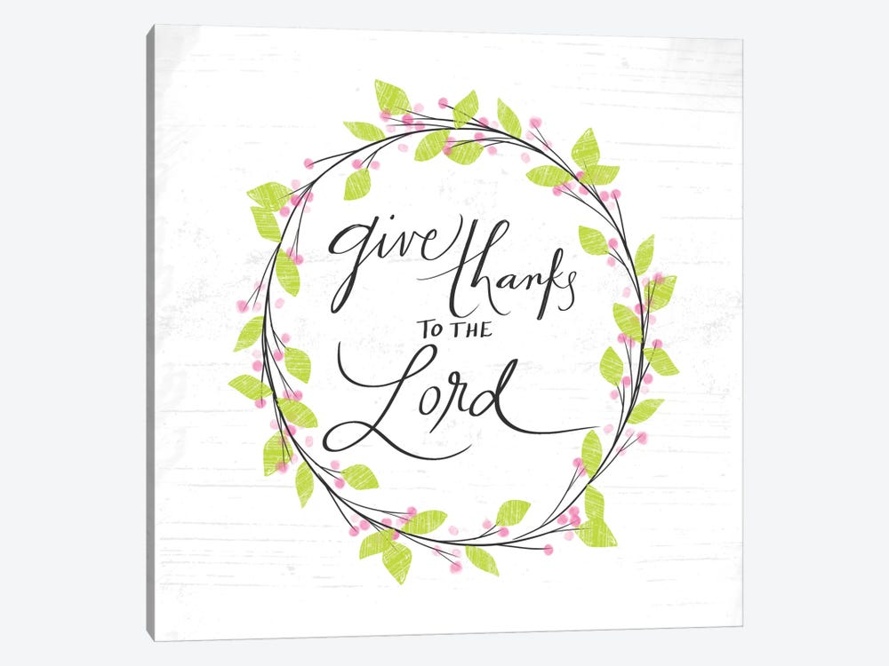 Thanks To The Lord by Katie Doucette 1-piece Canvas Print